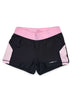 Womens Yoga Shorts Front Black Pink