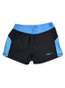 Womens Yoga Shorts Front Black Blue