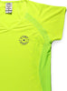 Womens Sports T-Shirt V Neck Front Lime