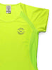 Womens Sports T-Shirt Round Neck Front Lime