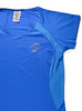 Womens Sports T-Shirt Round Neck Front Blue