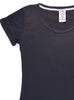 Women's Cotton T-Shirt Front Black