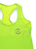 Womens Sports Shoulder Strap Singlet Front Lime
