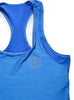 Womens Sports Shoulder Strap Singlet Front Blue