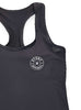 Womens Sports Shoulder Strap Singlet Front Black