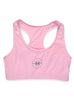 Womens Plain Crop Top Front Pink