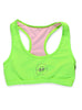Womens Plain Crop Top Front Lime
