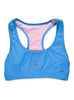 Womens Plain Crop Top Front Blue