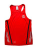 Men's Sports Singlet Front Red