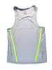 Men's Sports Singlet Front Grey with Lime