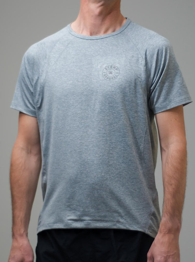 Men's Active T - Grey - Front