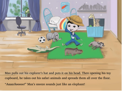 Page from Max and His Big Imagination: the Safari