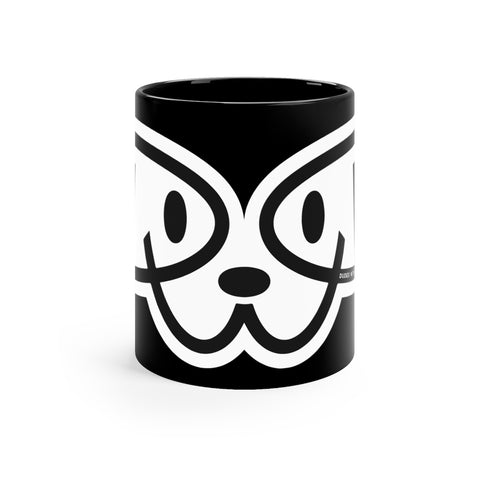 Dudes With Dogs® Logo Mug, Black, 11oz. - FREE SHIPPING $30+