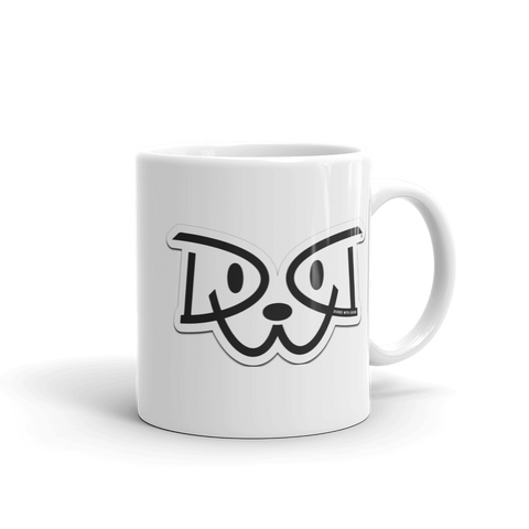Dudes With Dogs® Logo Mug, White, 11oz & 15oz - FREE SHIPPING $30+