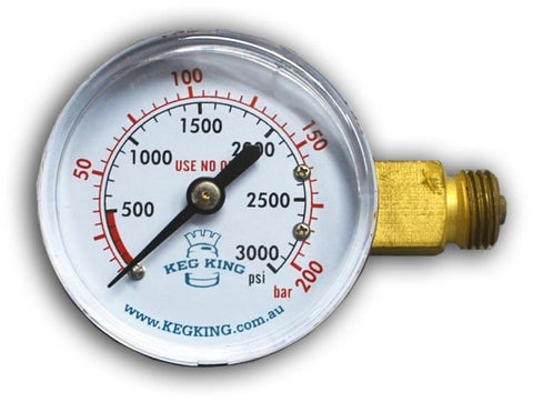 High Pressure Gauge 0 - 3000psi