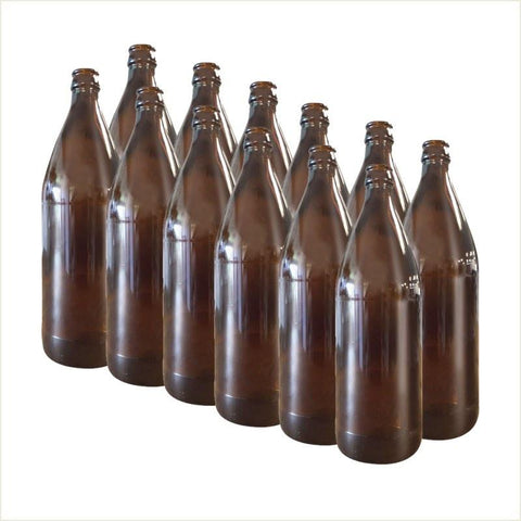 Bottle - Crown Glass Amber 750ml 12pk