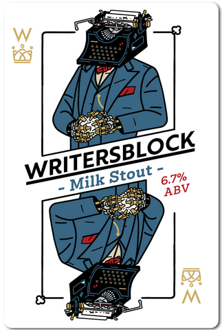 All in Brewing FWK  - Writers block - Milk Stout