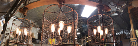 3 Chicken-wire Chandelier-R