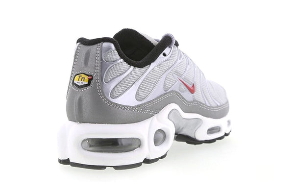 4f4280b8356467 ... the Air Max Plus brilliantly producing a sleek finish with a clean  white midsole to one of nikes most popular silhouette s. The Silver Bullet  collection ...