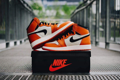 Upside down swoosh shattered backboards