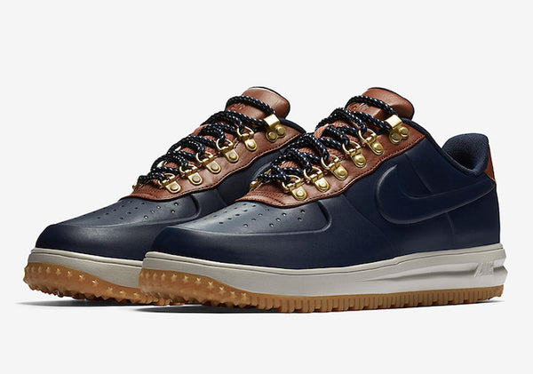 The Lunar Force 1 Duckboot Low has been added to the range of  Winterized   options from Nike this year. with a moulded rubberised upper with leather  ... 8a0ae472b