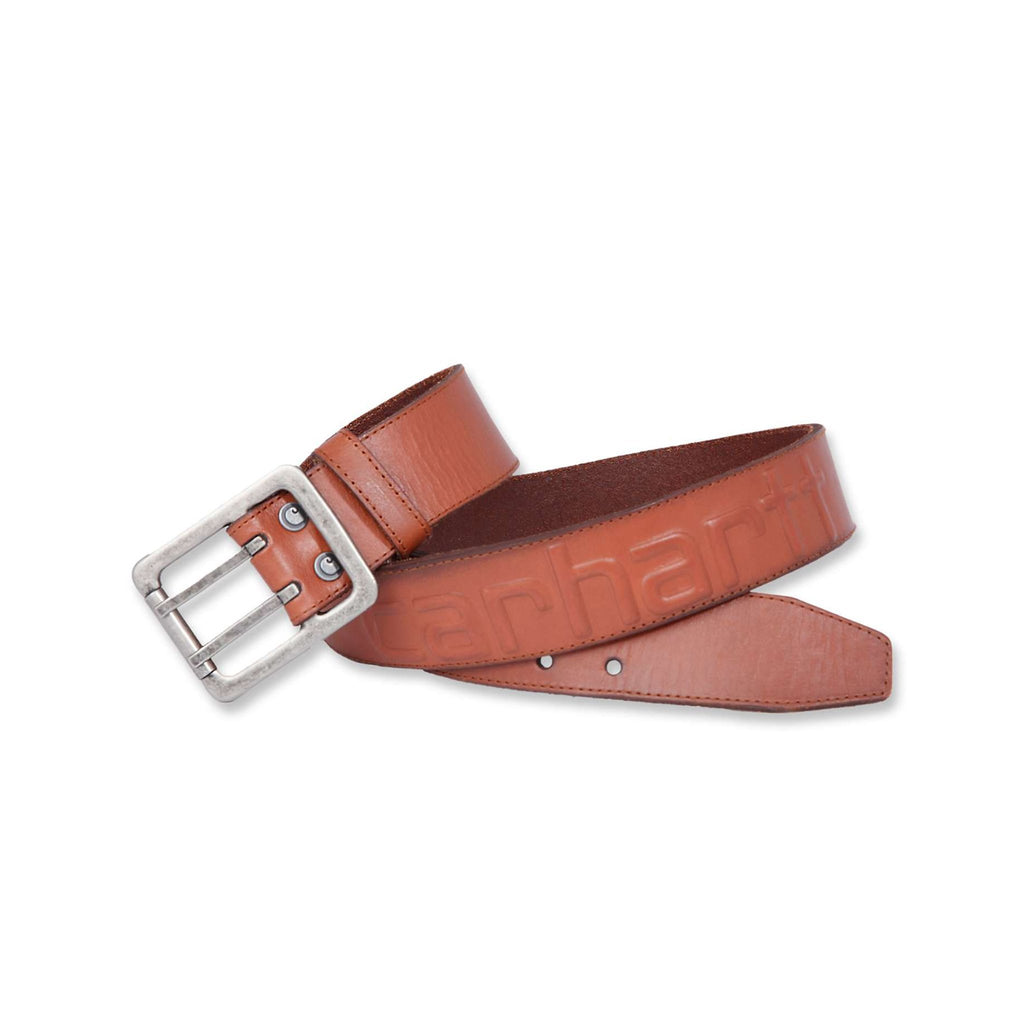 Carhartt Leather Logo Belt - Carhartt Brown