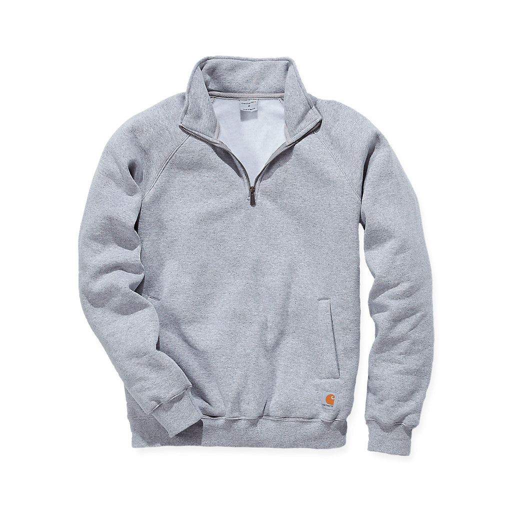 Carhartt Quarter Zip Mock Neck Sweat - Heather Grey
