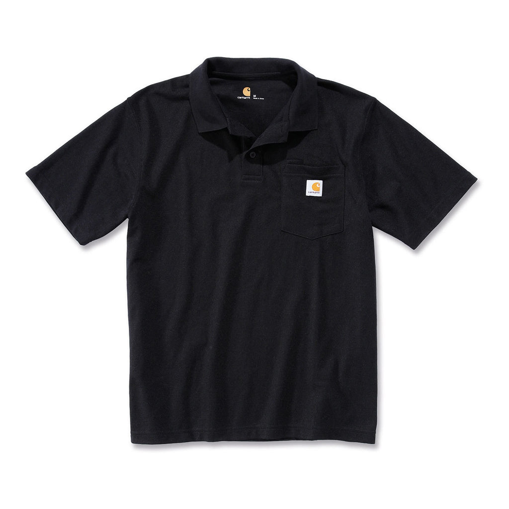 Carhartt Work Pocket Polo Shirt - Black