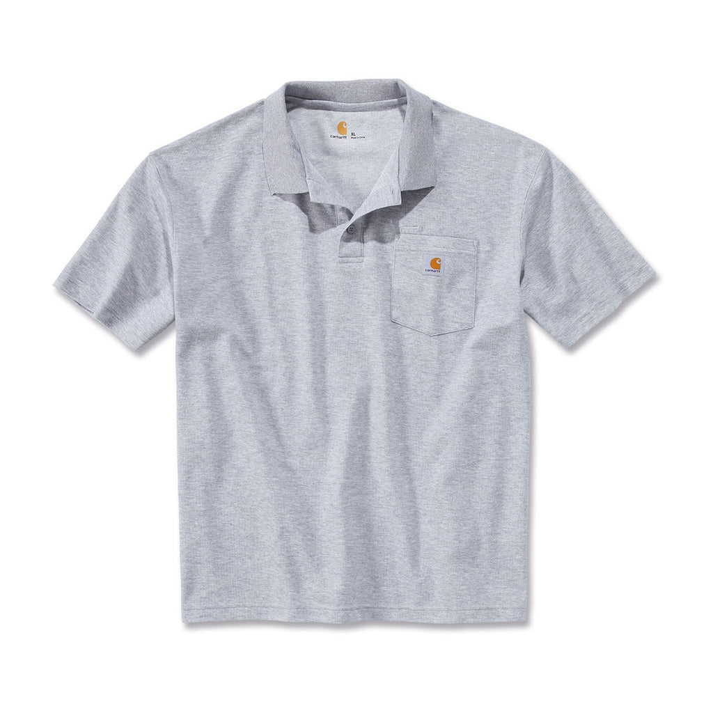 Carhartt Work Pocket Polo Shirt - Heather Grey