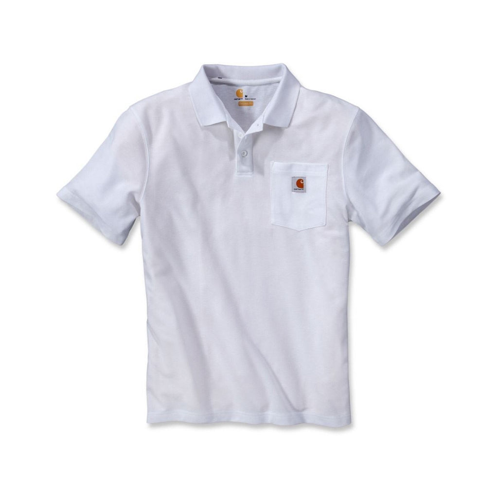 Carhartt Work Pocket Polo Shirt - White