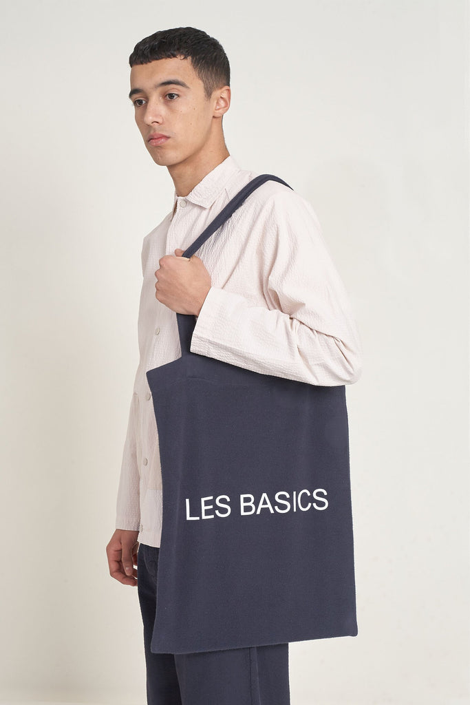 Les Basics Brushed Fleece Le Tote Bag - Navy