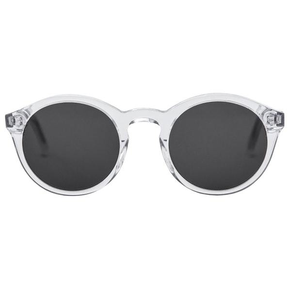 Monokel HandCrafted Eyewear Barstow - Crystal with Solid Grey Lens