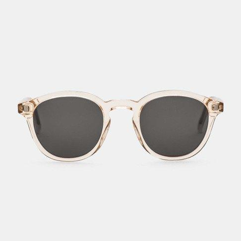 Monokel HandCrafted Eyewear Nelson - Champagne with Solid Grey Lens