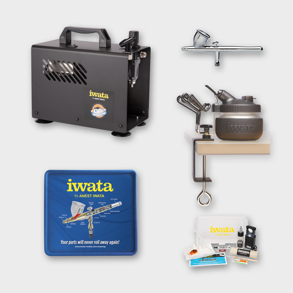 IWATA - REVOLUTION CR AIRBRUSH AND COMPRESSOR COMPLETE