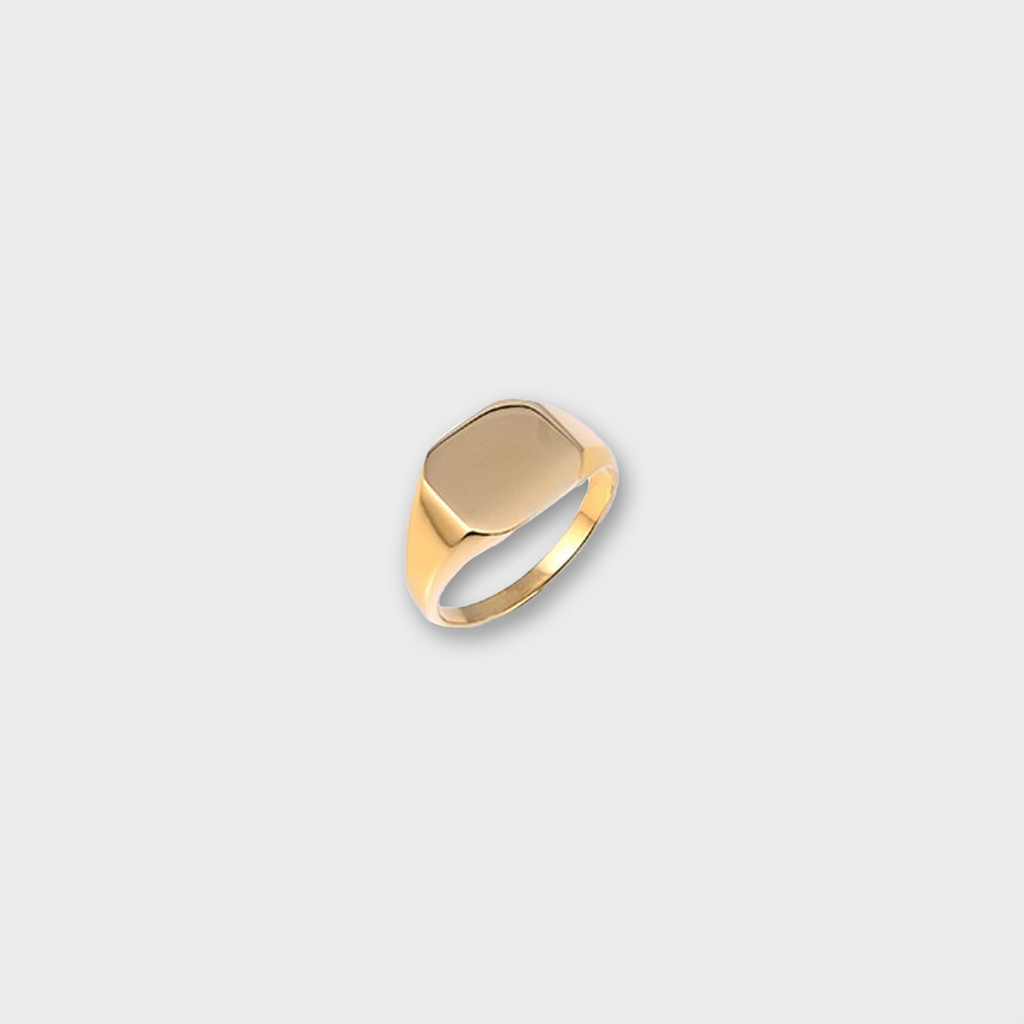 A.Kjaerbede 316 Stainless Steel Bech Ring - Gold