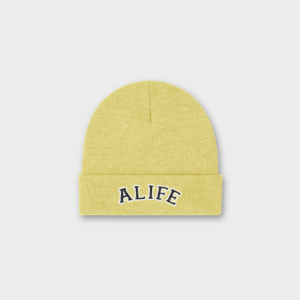 Alife New York Collegiate Beanie Hat - Cream
