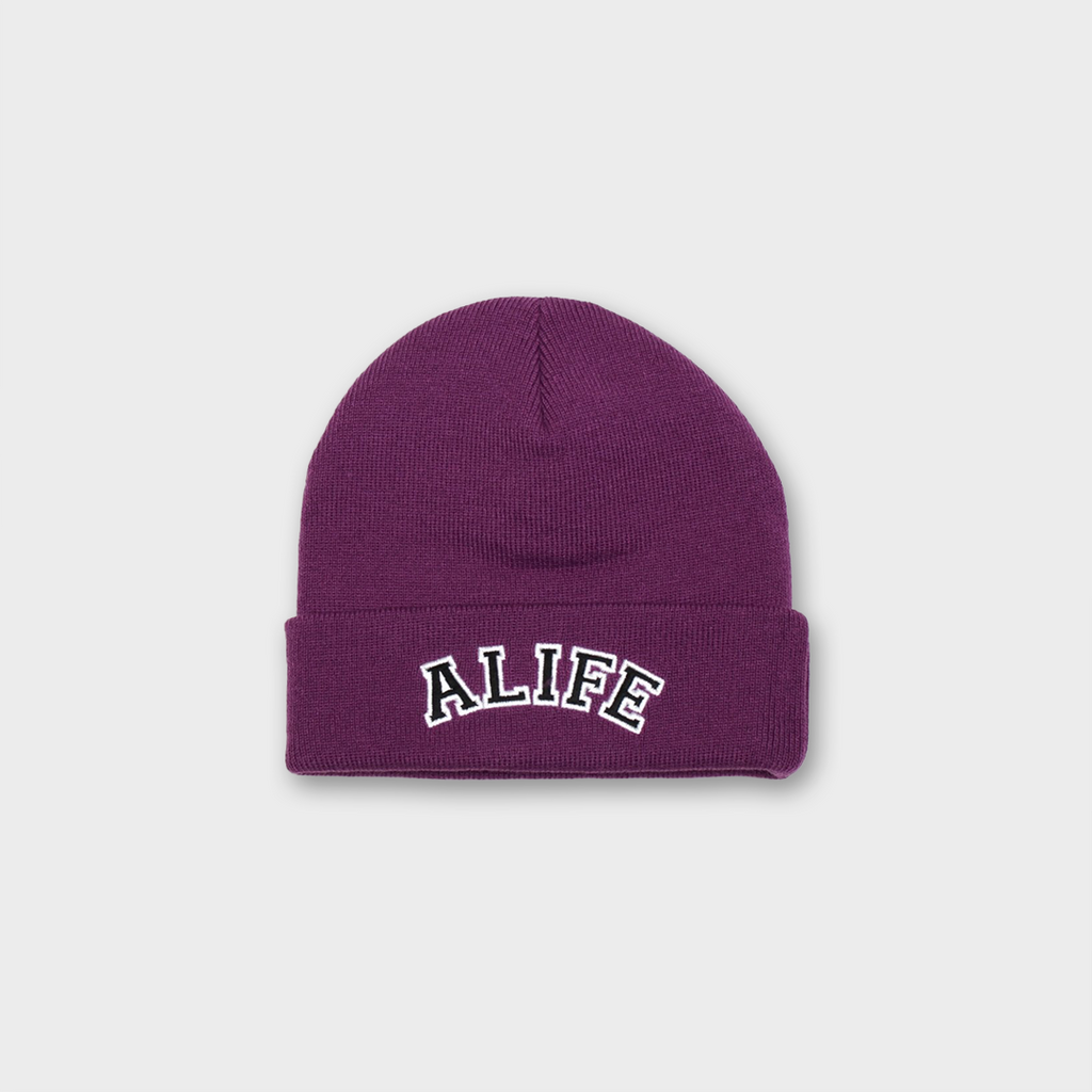 Alife New York Collegiate Beanie Hat - Purple