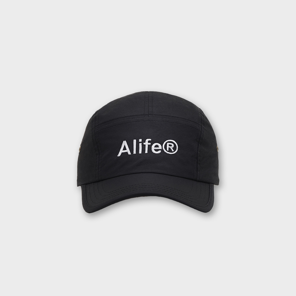 Alife New York Five Panel Generic Logo Hat - Black