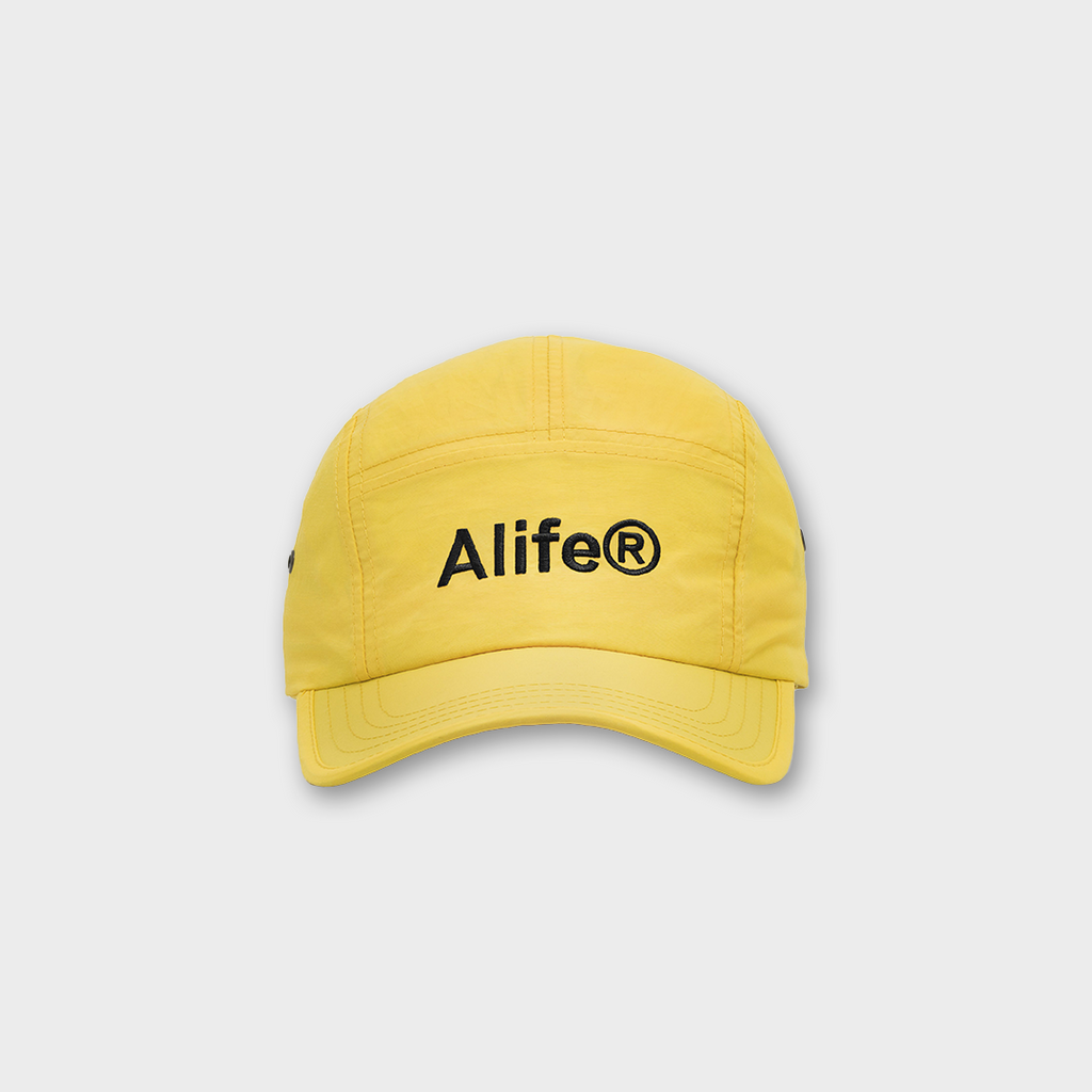 Alife New York Five Panel Generic Logo Hat - Yellow