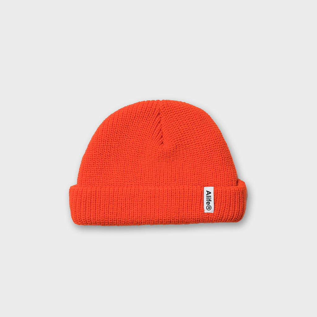 Alife New York Registered Beanie Hat - Orange