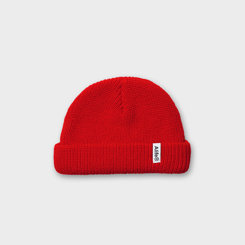 Alife New York Registered Beanie Hat - Red