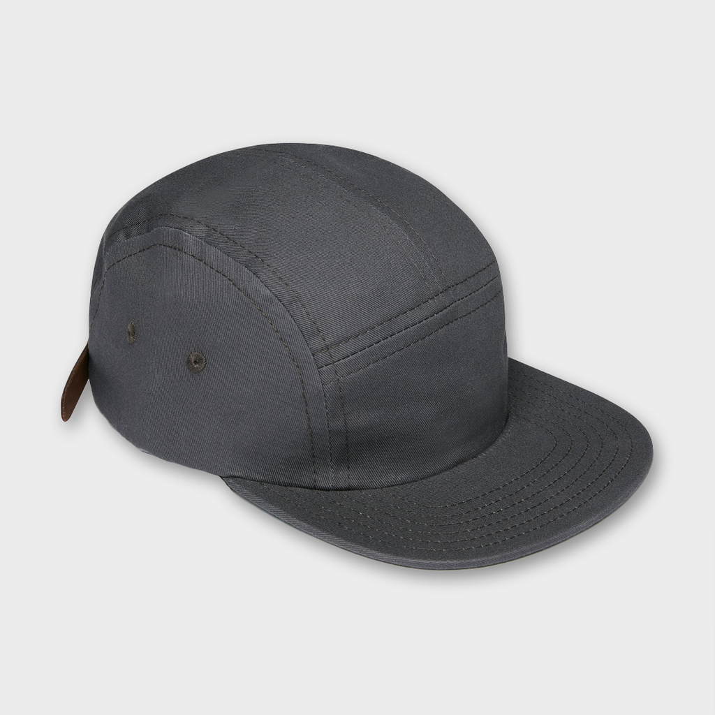 Ebbets Field Flannels USA Five Panel Cotton Cap - Charcoal