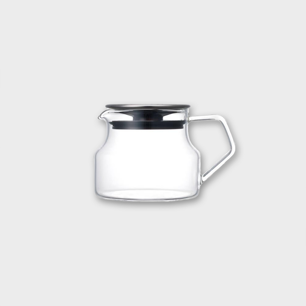 Kinto Japan Cast Glass Teapot - Grey Stainless 450ml