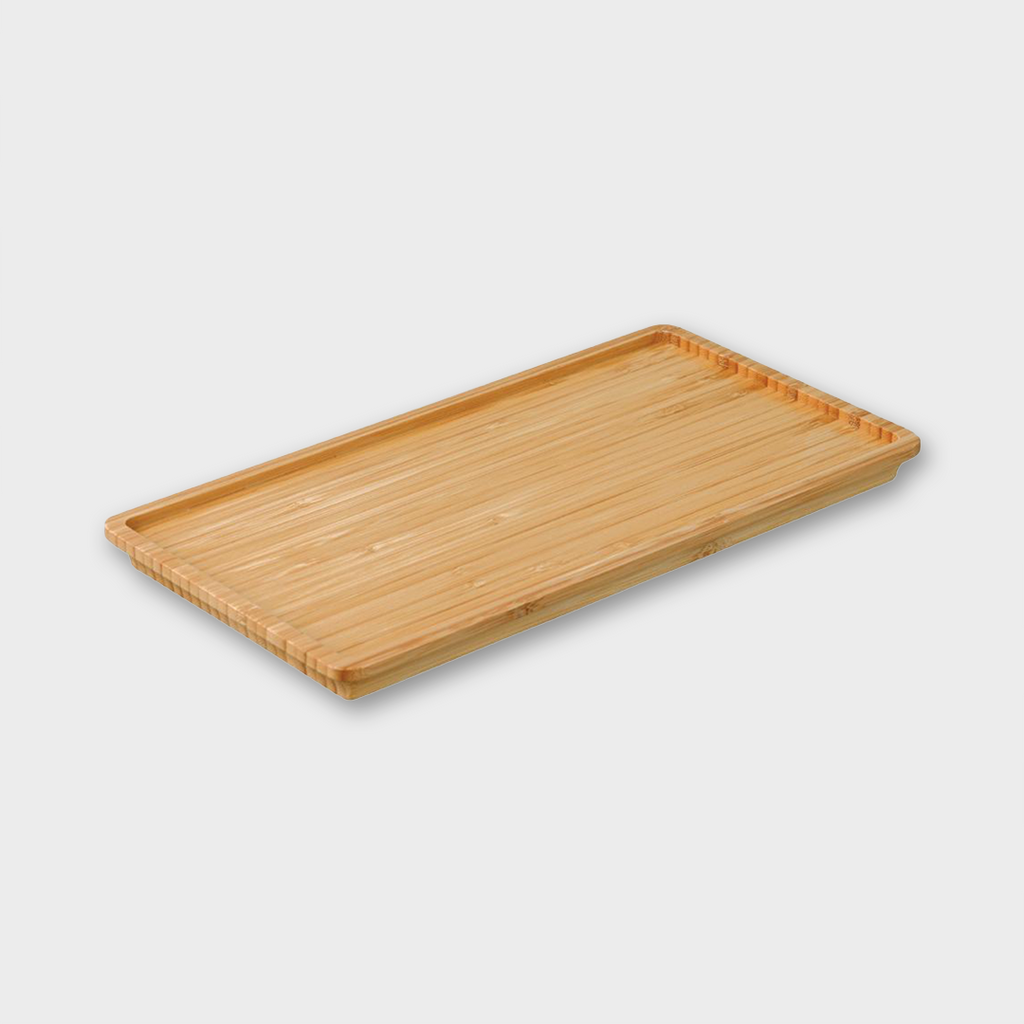 Kinto Japan Leaves to Tea Tray - Natural Bamboo Wood 275mm x 145mm