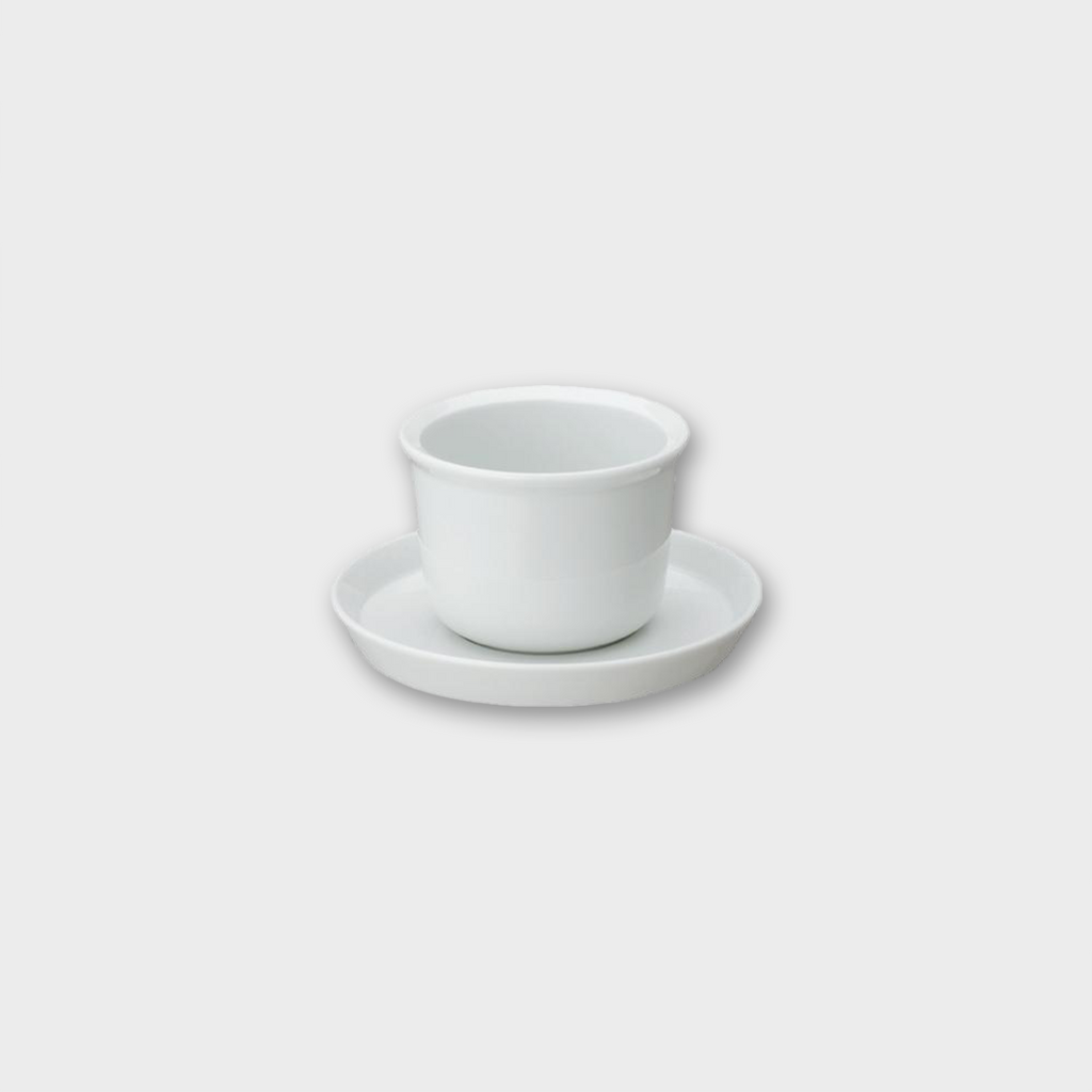 Kinto Japan Leaves to Tea Porcelain Cup & Saucer - White 160ml