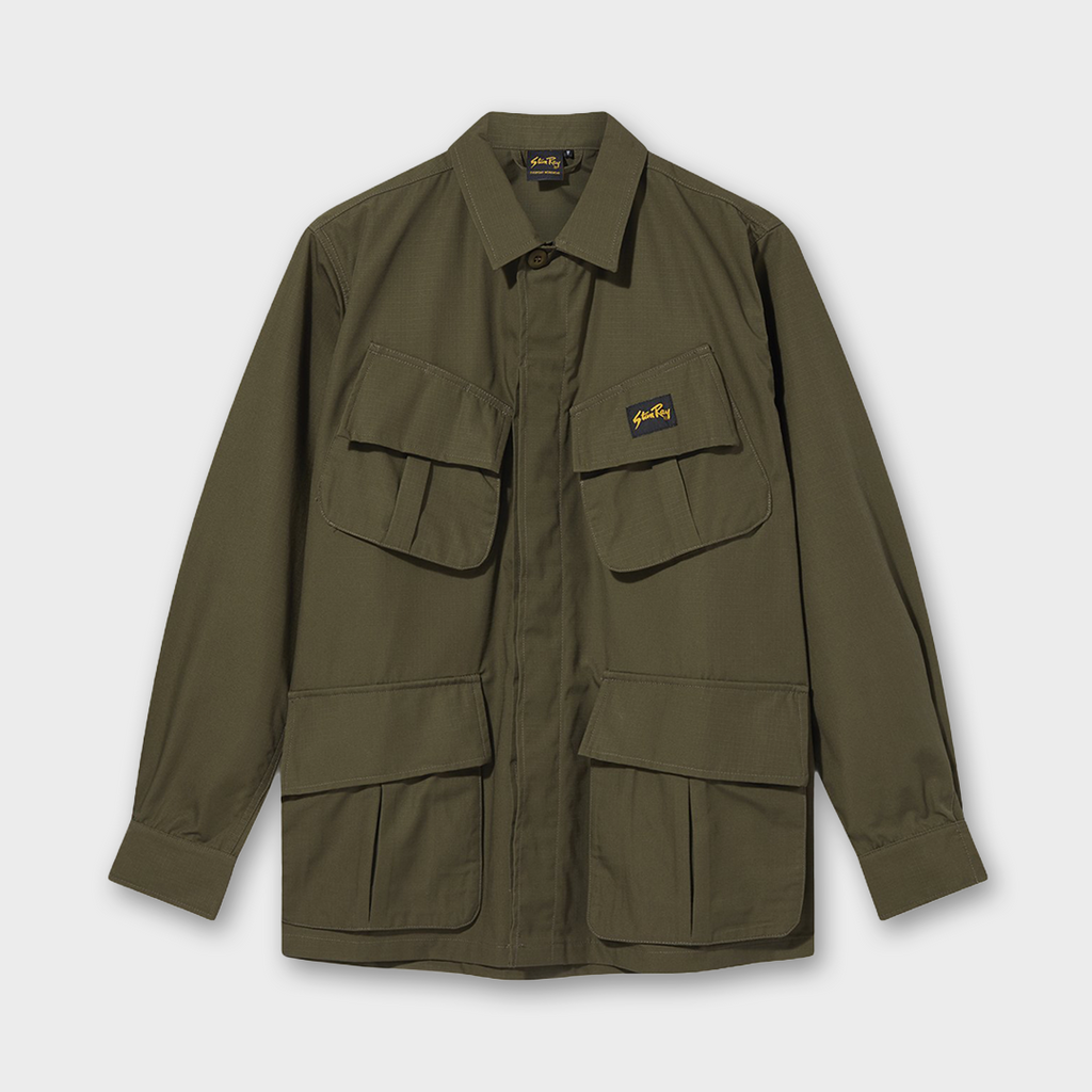 Stan Ray Zip Tropical Jacket - Olive Nyco