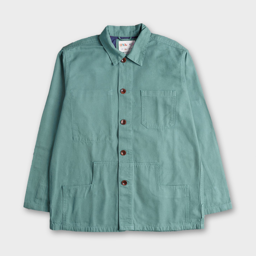 Uskees #3004 Organic Cotton Button Work Jacket - Jade