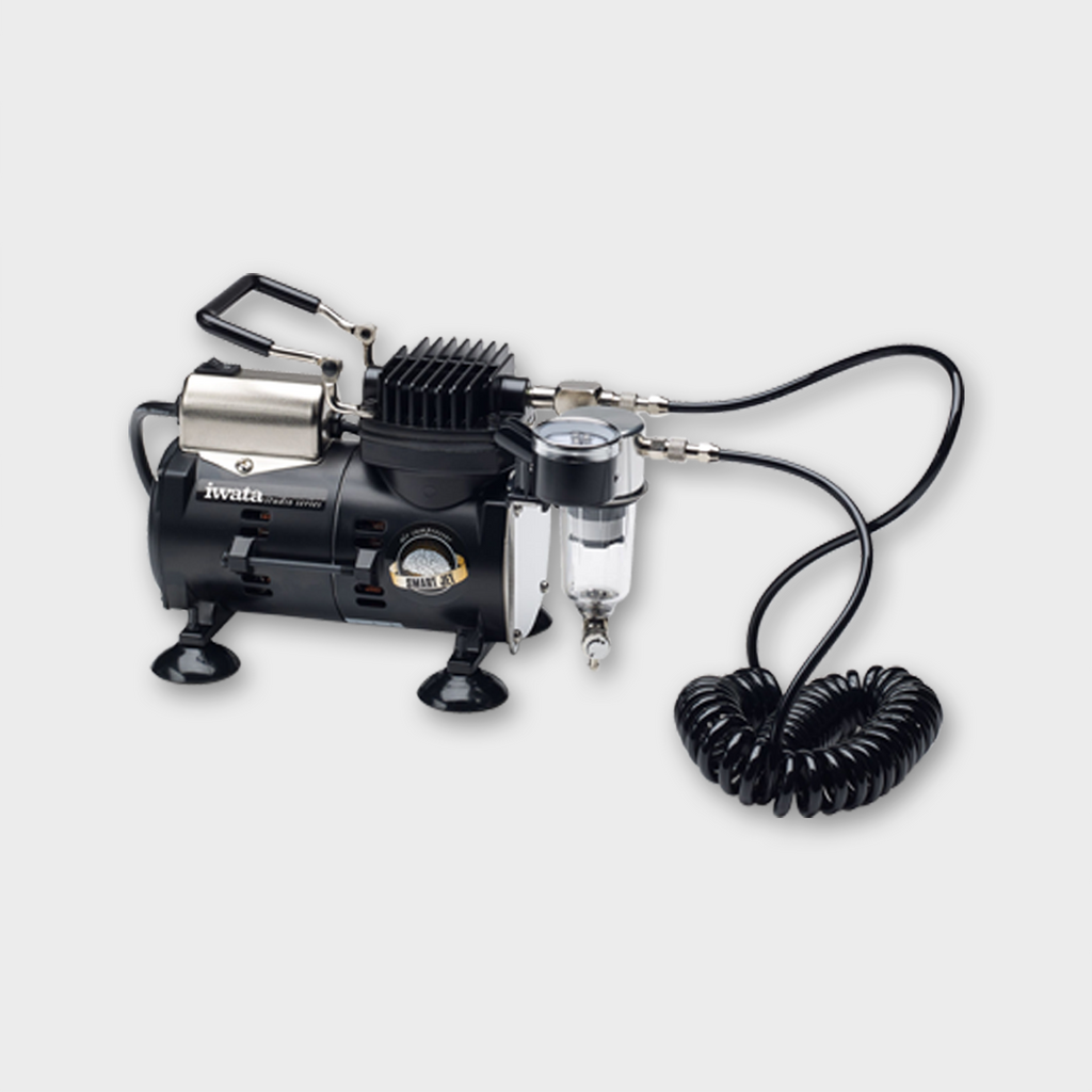 IWATA - HIGH PERFORMANCE HP-C + AIRBRUSH AND SMART JET COMPRESSOR PACK