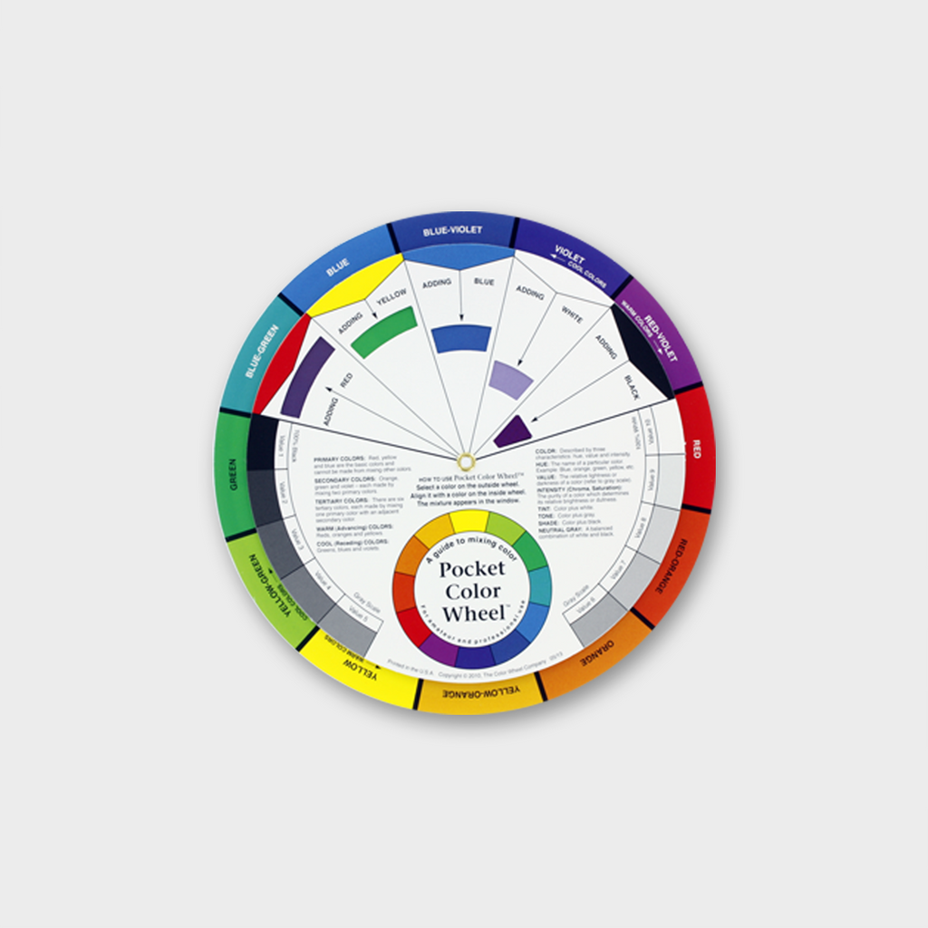 POCKET COLOUR WHEEL ILLUSTRATIVE TOOL FOR MIXING COLOURS