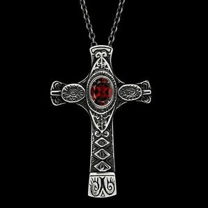 CROSS WITH GARNET